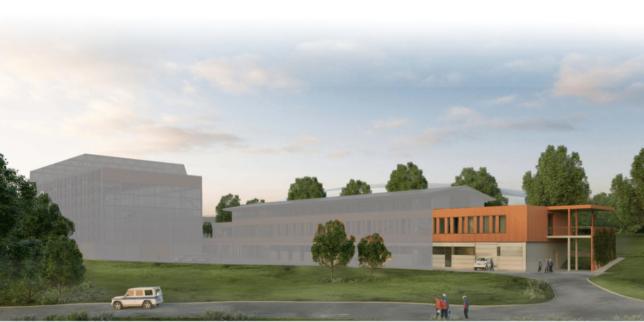 So wird die neue Bergrettungswache der Bergwacht Bad Tölz aussehen.